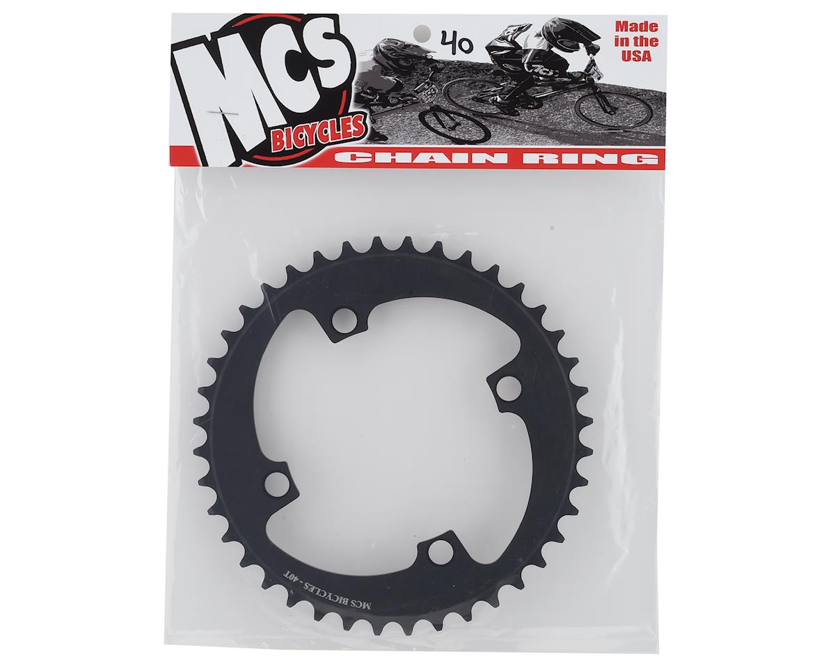 Image 2 for MCS 4-Bolt Chainring (Black) (40T)