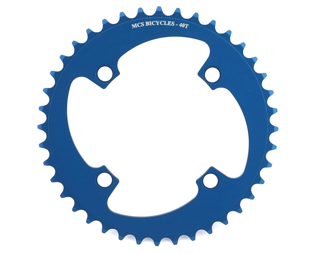 Image 1 for MCS 4-Bolt Chainring (Blue) (40T)