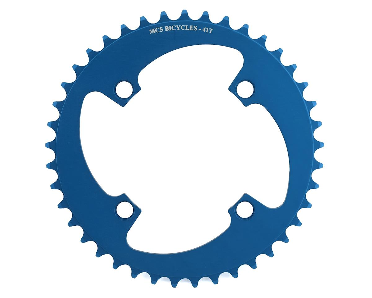 Image 1 for MCS 4-Bolt Chainring (Blue) (41T)
