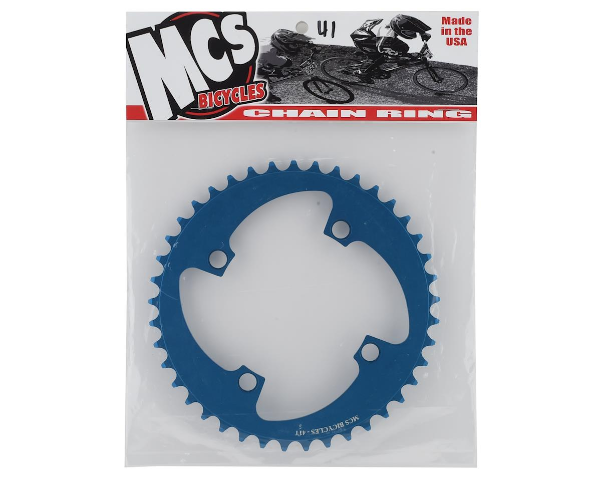 Image 2 for MCS 4-Bolt Chainring (Blue) (41T)