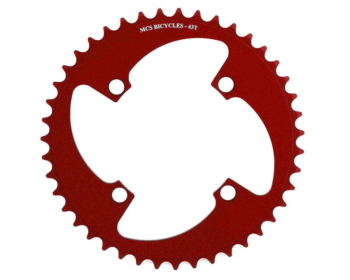 Image 1 for MCS 4-Bolt Chainring (Red) (43T)
