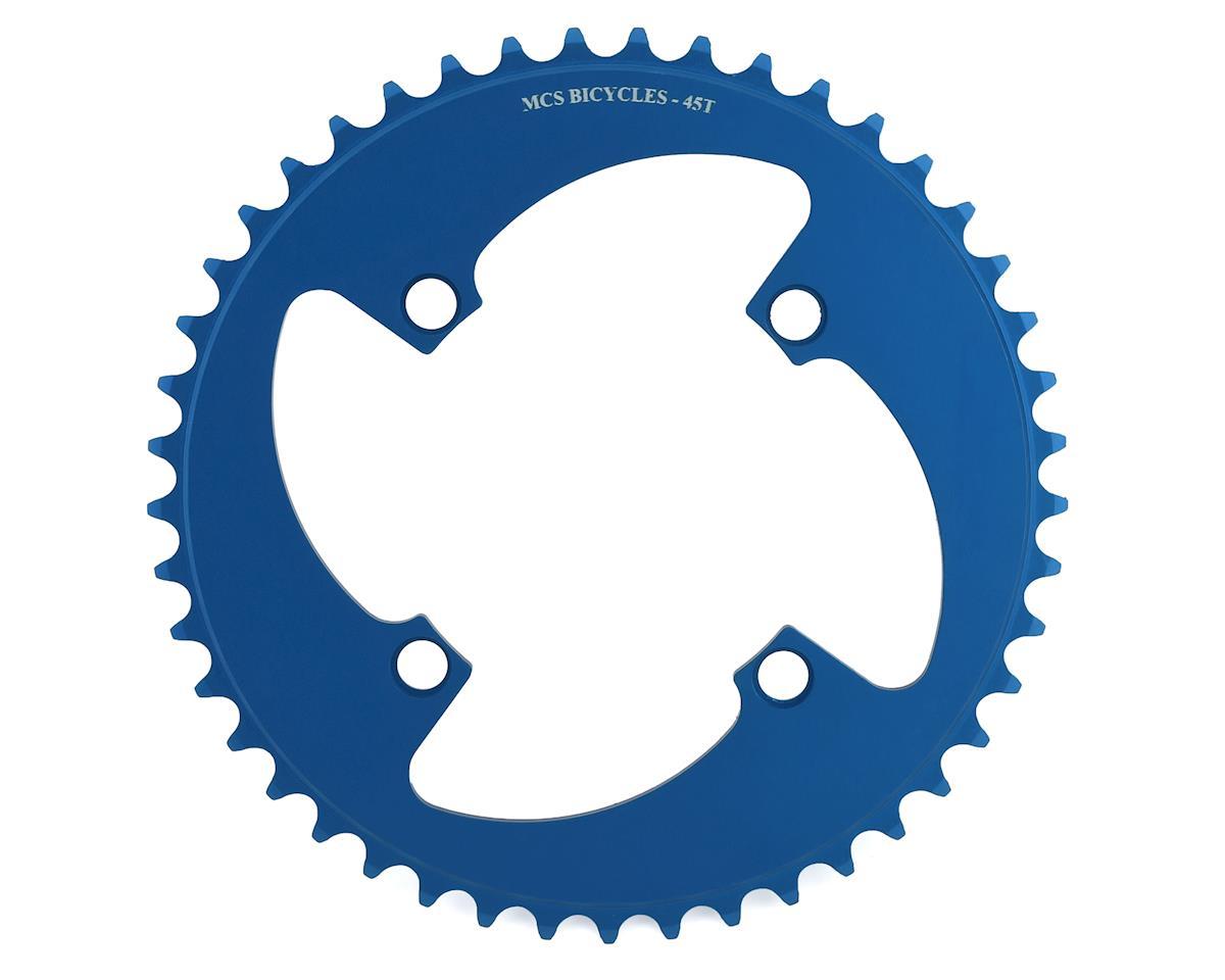 Image 1 for MCS 4-Bolt Chainring (Blue) (45T)