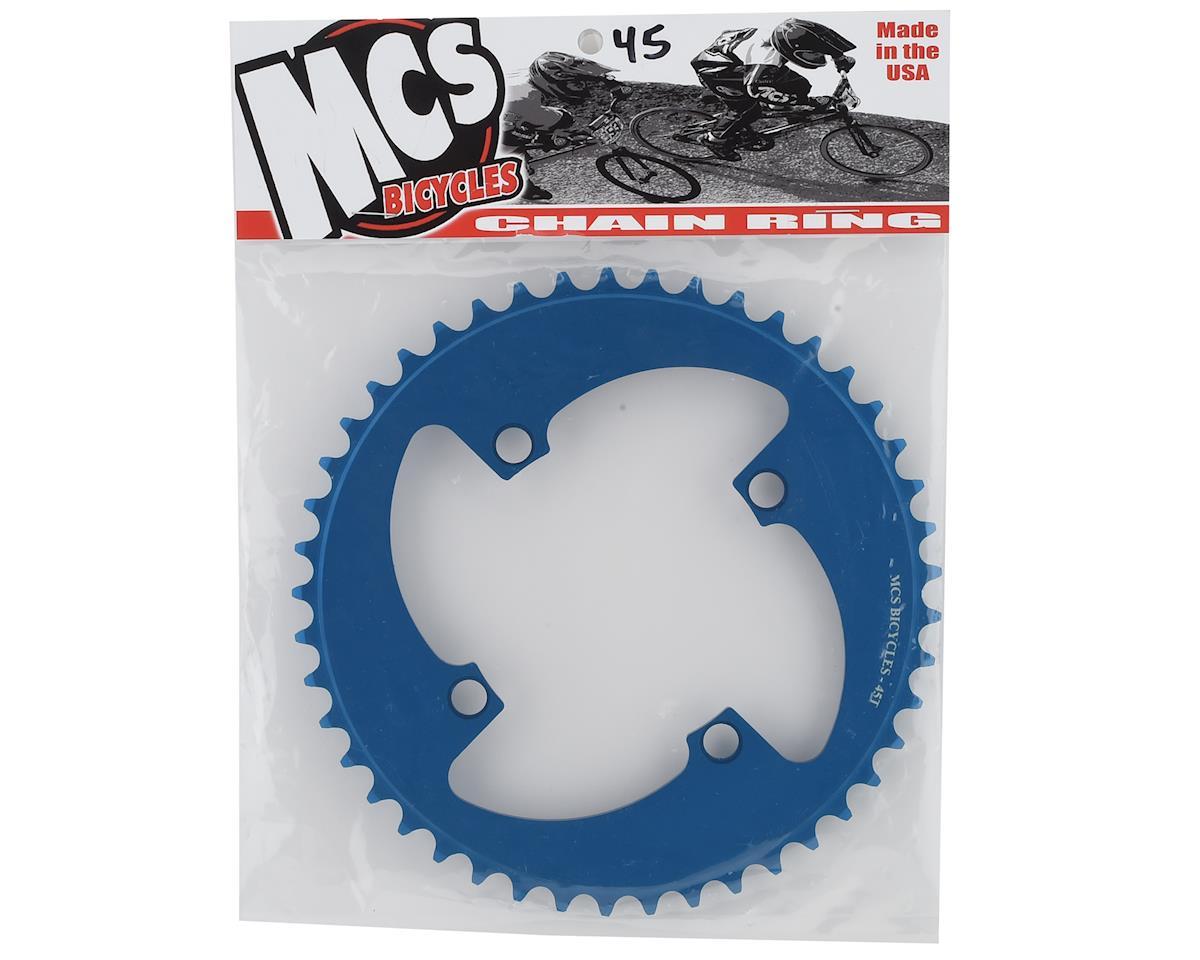 Image 2 for MCS 4-Bolt Chainring (Blue) (45T)