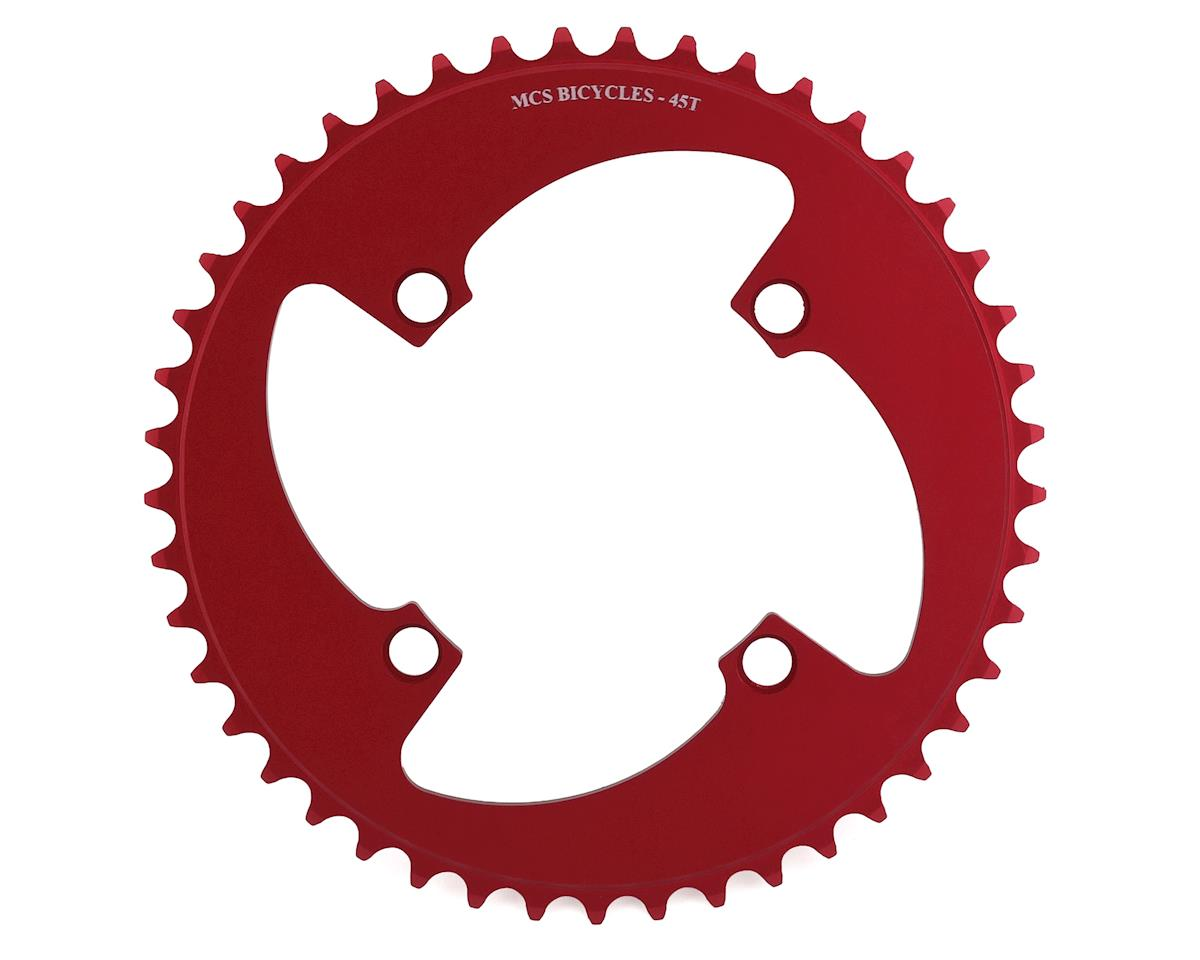 MCS 4-Bolt Chainring (Red) (45T)