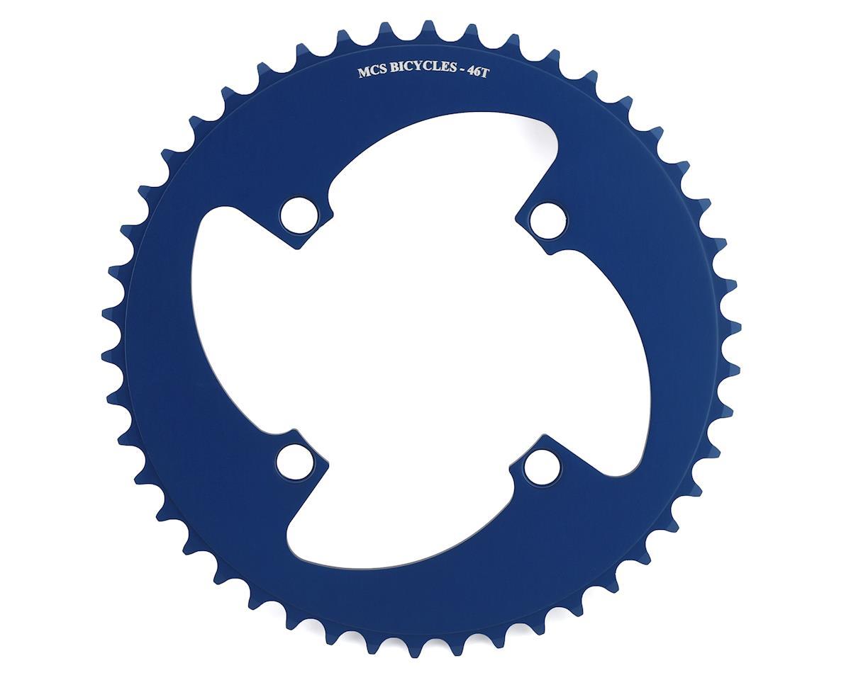 MCS 4-Bolt Chainring (Blue) (46T)