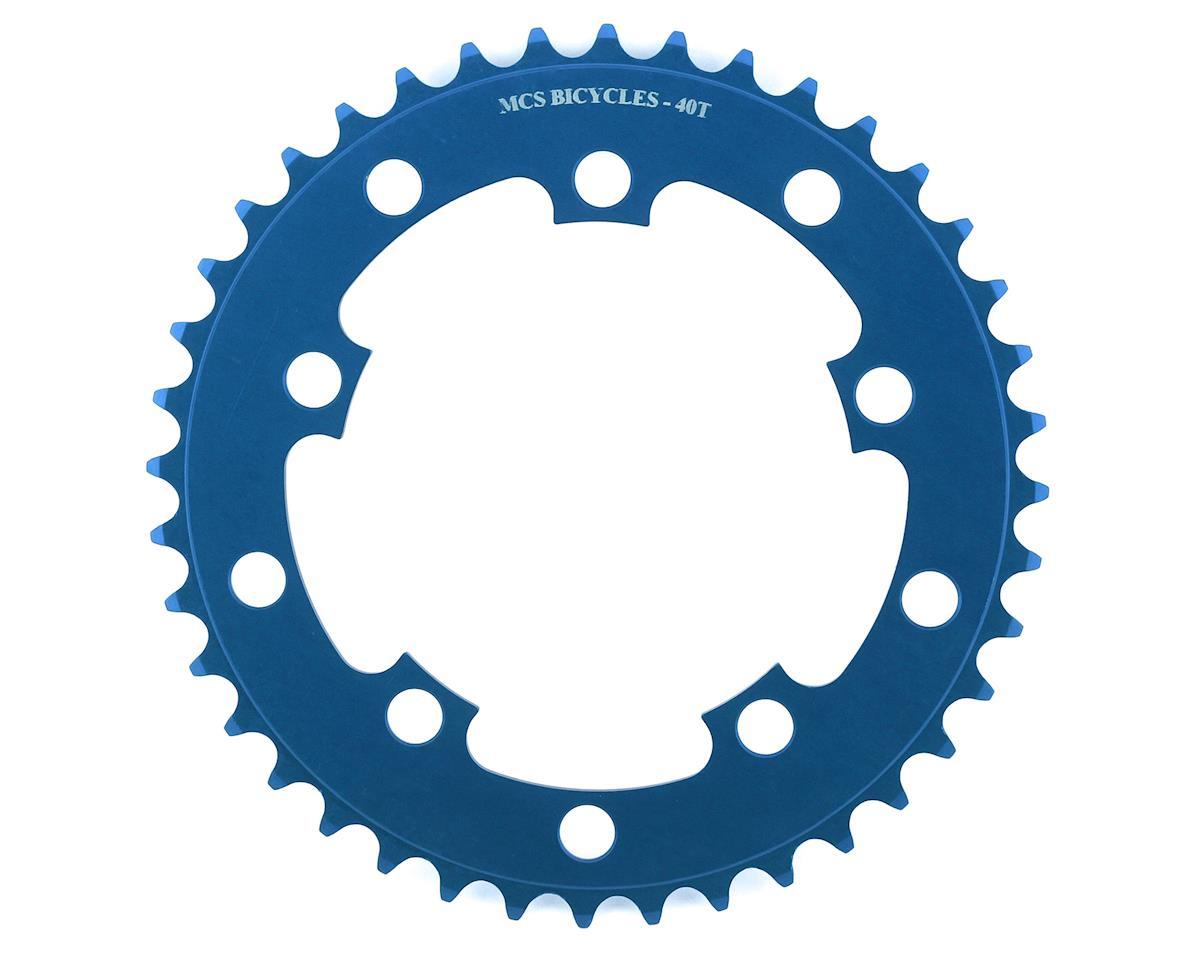Image 1 for MCS 5-Bolt Chainring (Blue) (40T)
