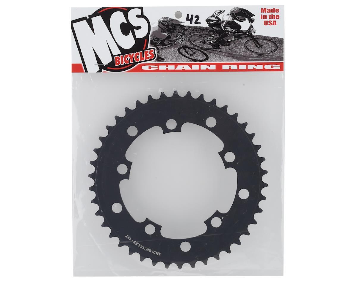 MCS 42T BMX Chainring 110mm //130mm 5-bolt USA Made Black
