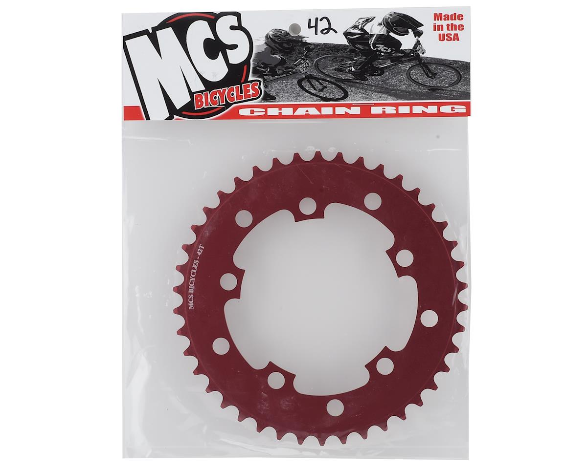 Image 2 for MCS 5-Bolt Chainring (Red) (42T)