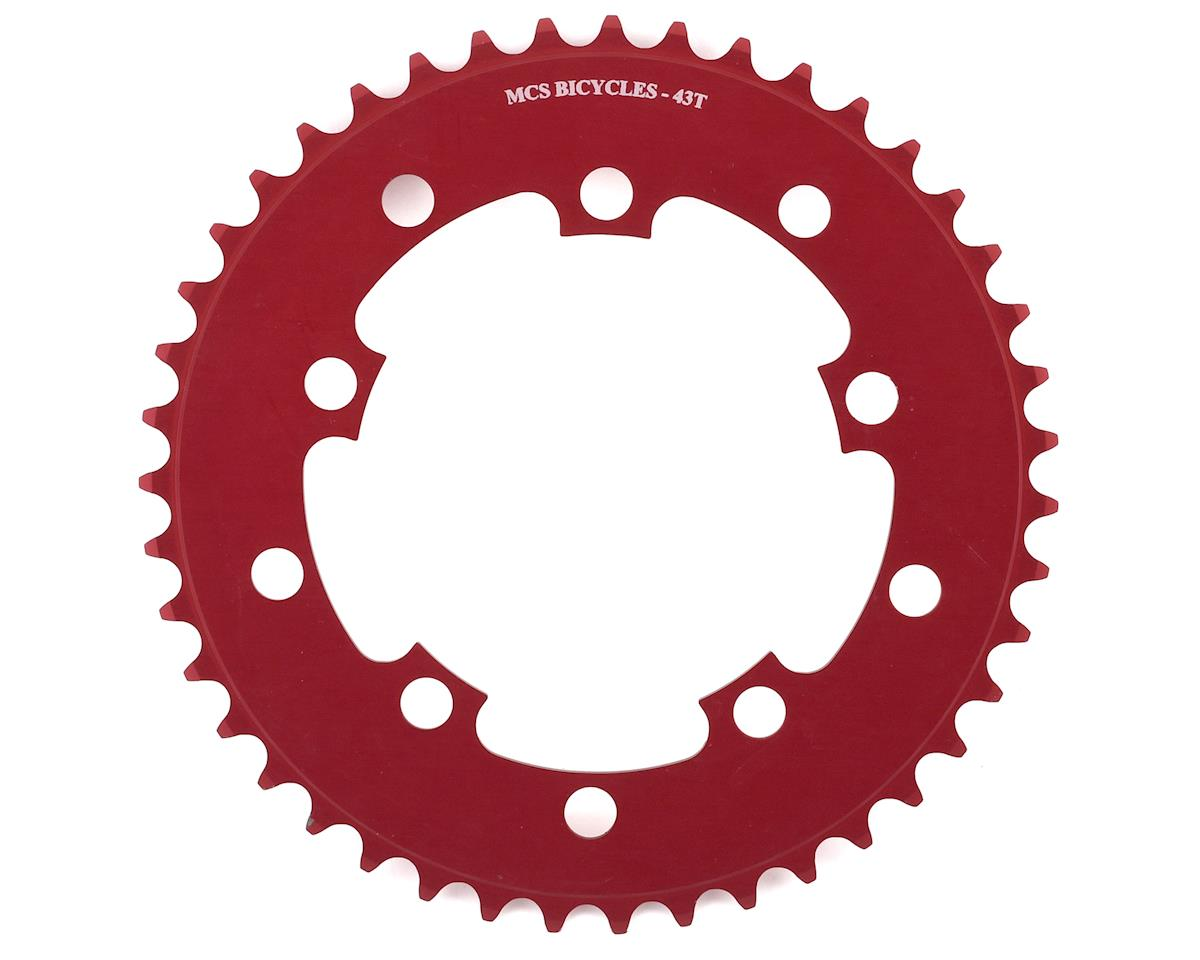 Image 1 for MCS 5-Bolt Chainring (Red) (43T)