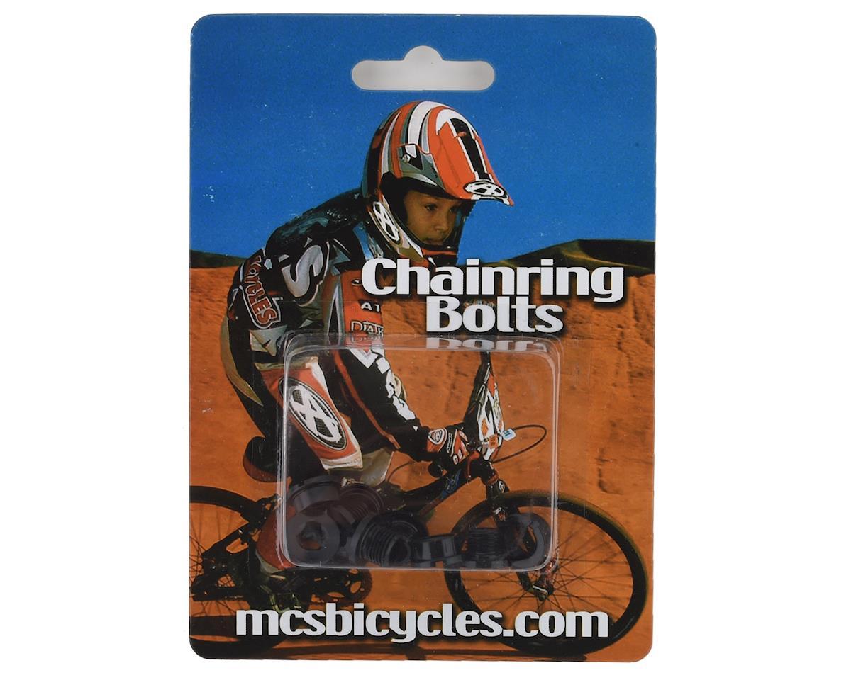 MCS Alloy Chainring Bolts (Black)