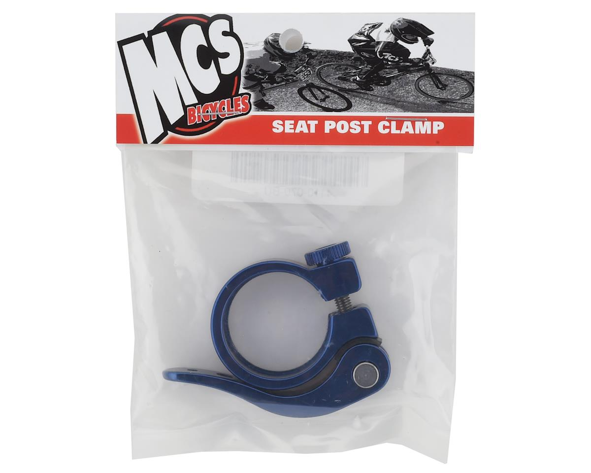 """Image 2 for MCS Quick Release Seatpost Clamp (1-1/4"""") (31.8) (Blue)"""