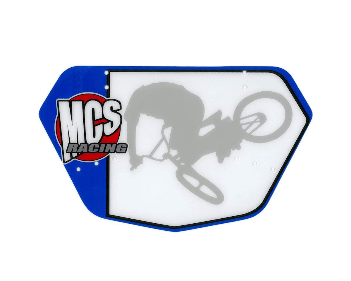 MCS Racing Number Plate (Blue/White)