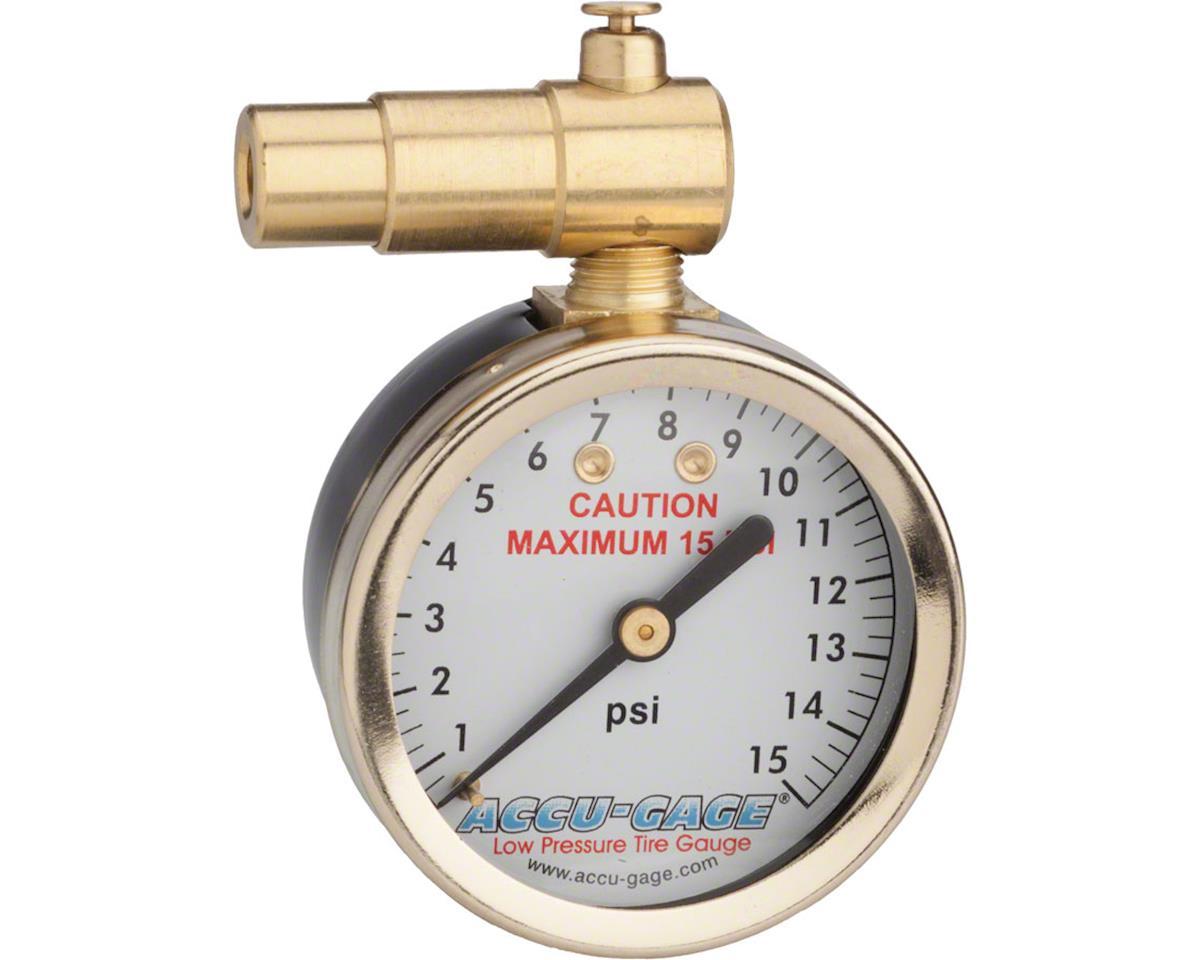 Meiser Presta-Valve Dial Gauge with Pressure Relief: 15psi