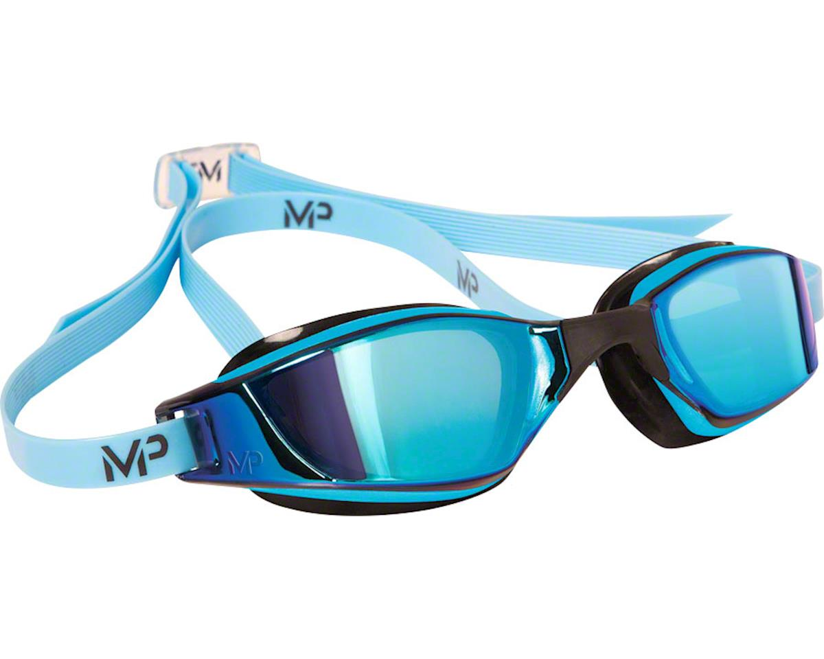 Michael Phelps Xceed Goggles: Blue/Black with Titanium Mirror Lens