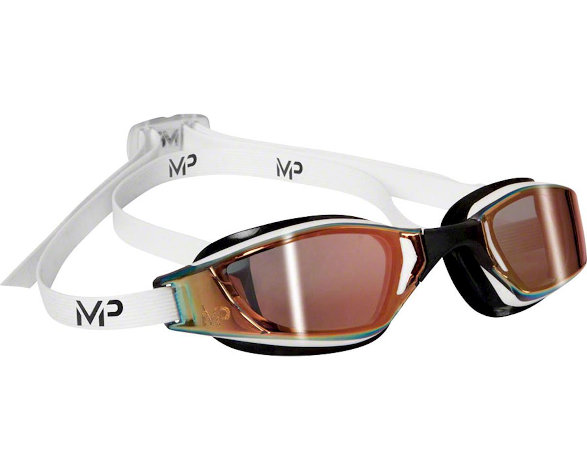 Michael Phelps Xceed Goggles: White/Black with Mirror Lens