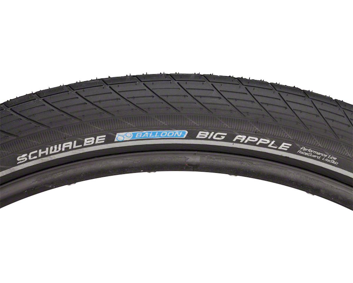 Schwalbe Big Apple Tire, 29x2.35 Wire Bead Black with Reflective Sidewall and Ra