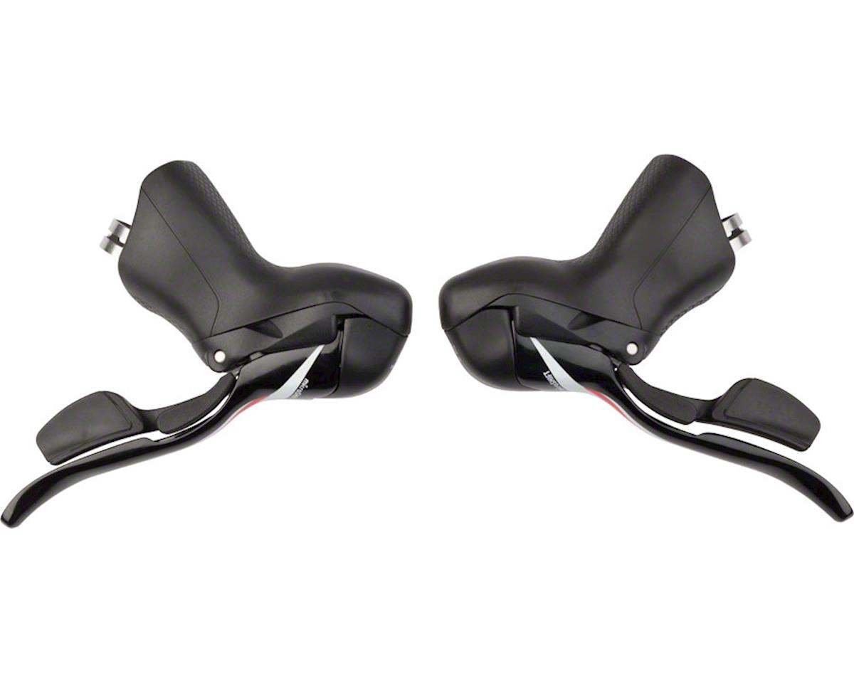 microSHIFT Road R10 Double 10-Speed Drop Bar Lever Set, Shimano Compatible, Blac