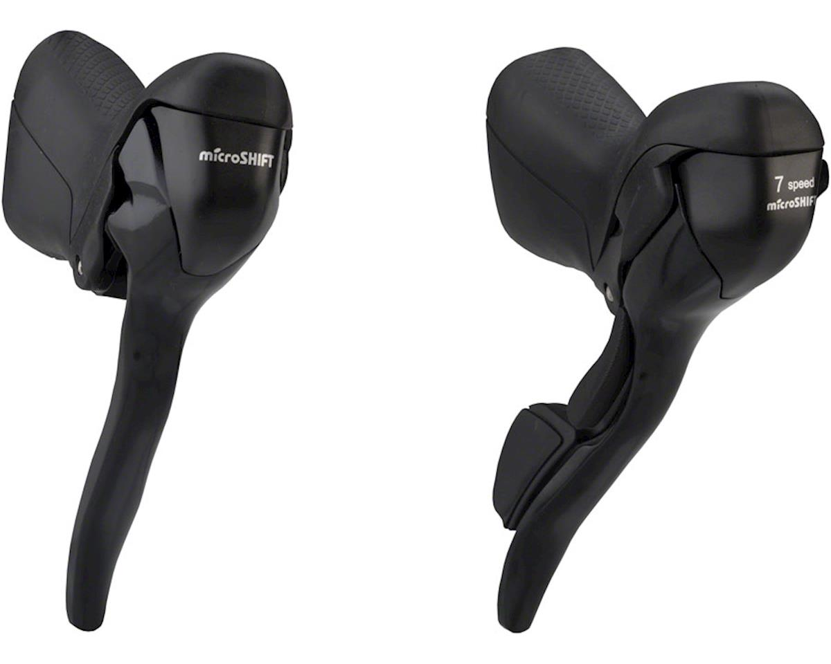 MicroShift R470 1x7-Speed Drop Bar Lever Set (Black)