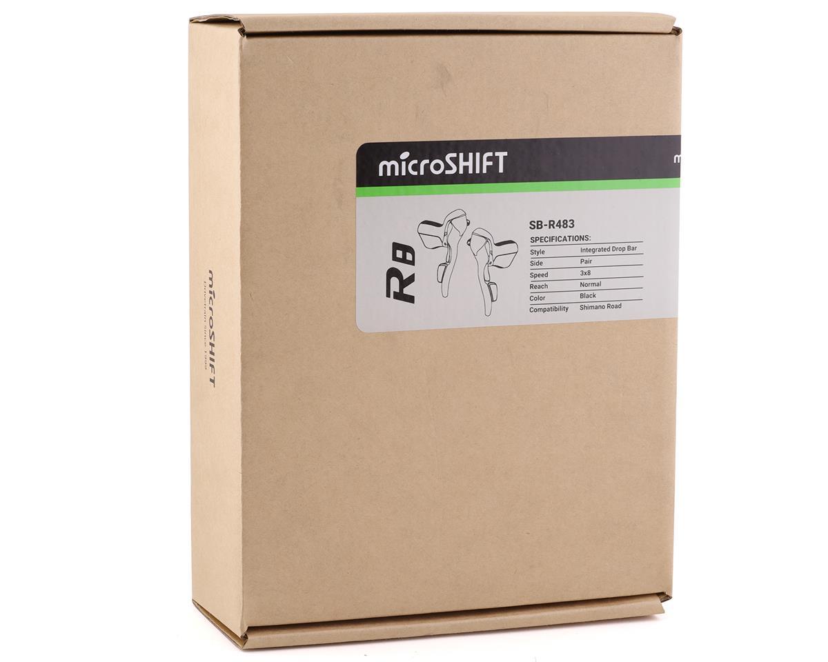 microSHIFT R8 Drop Bar Shift Lever Set 3 x 8-Speed, Shimano Compatible