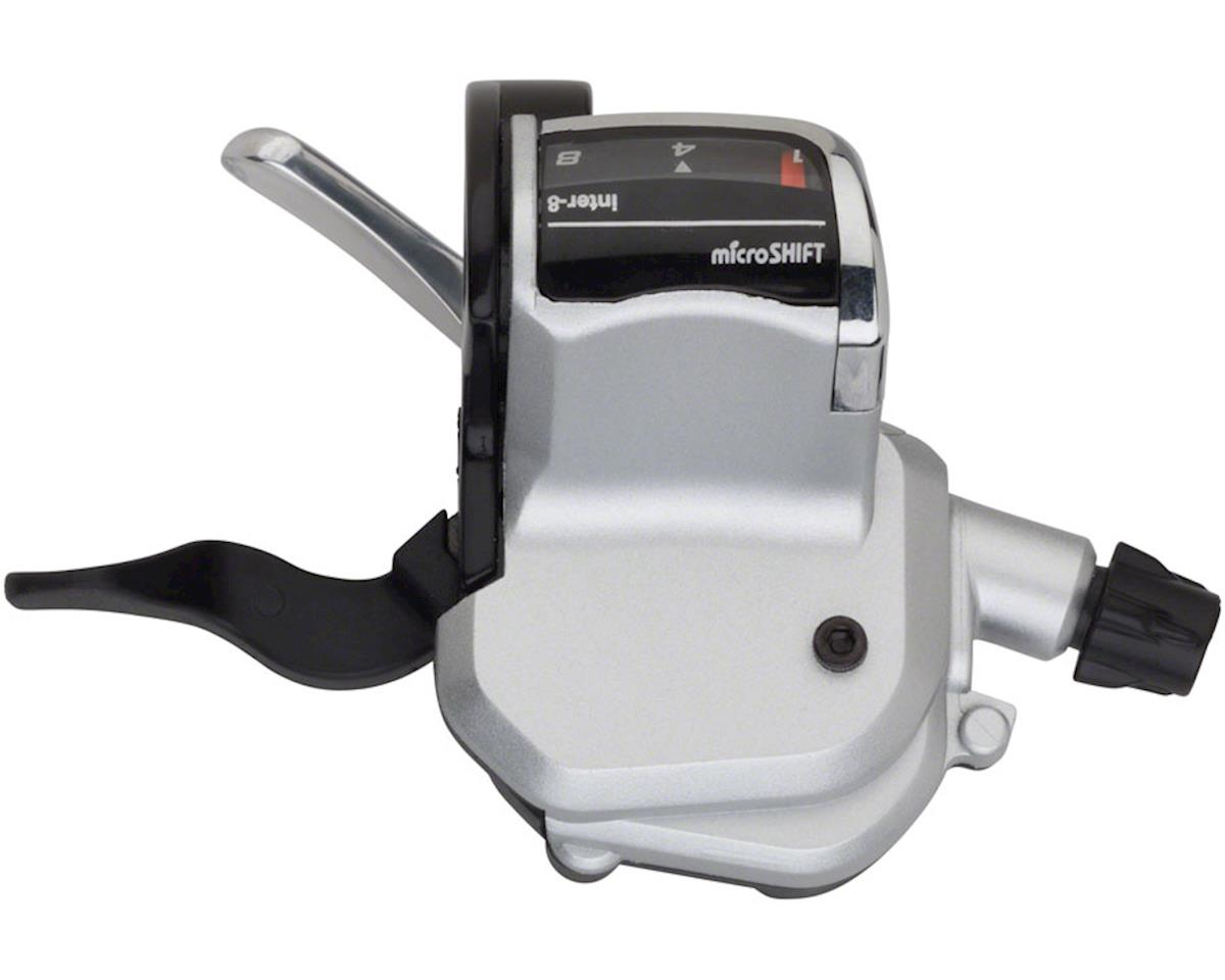 microSHIFT N768 Alfine 8 Speed Flat Bar Shifter, Silver