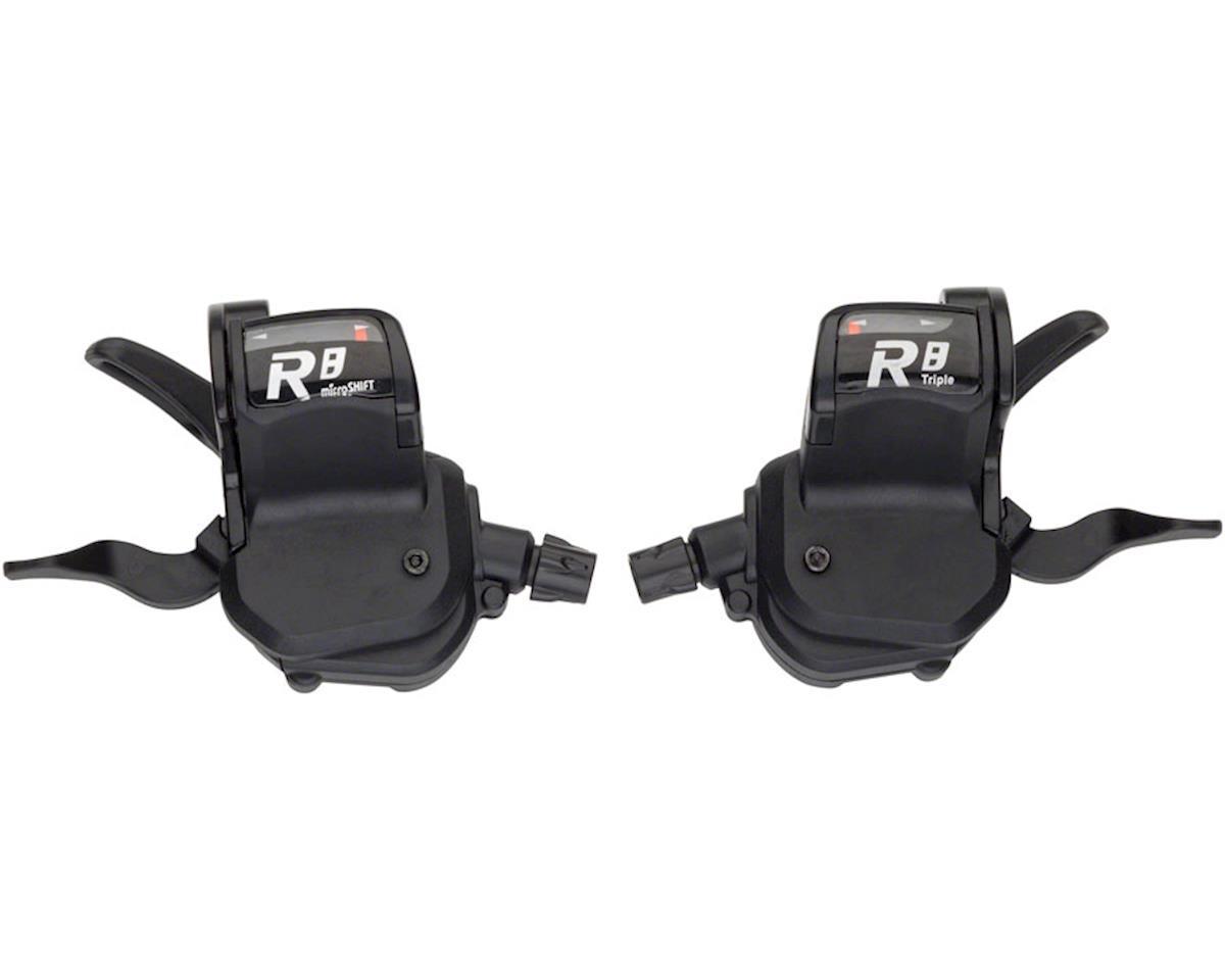 MicroShift R758 3 x 8-Speed Flat Bar Road Shifter Set