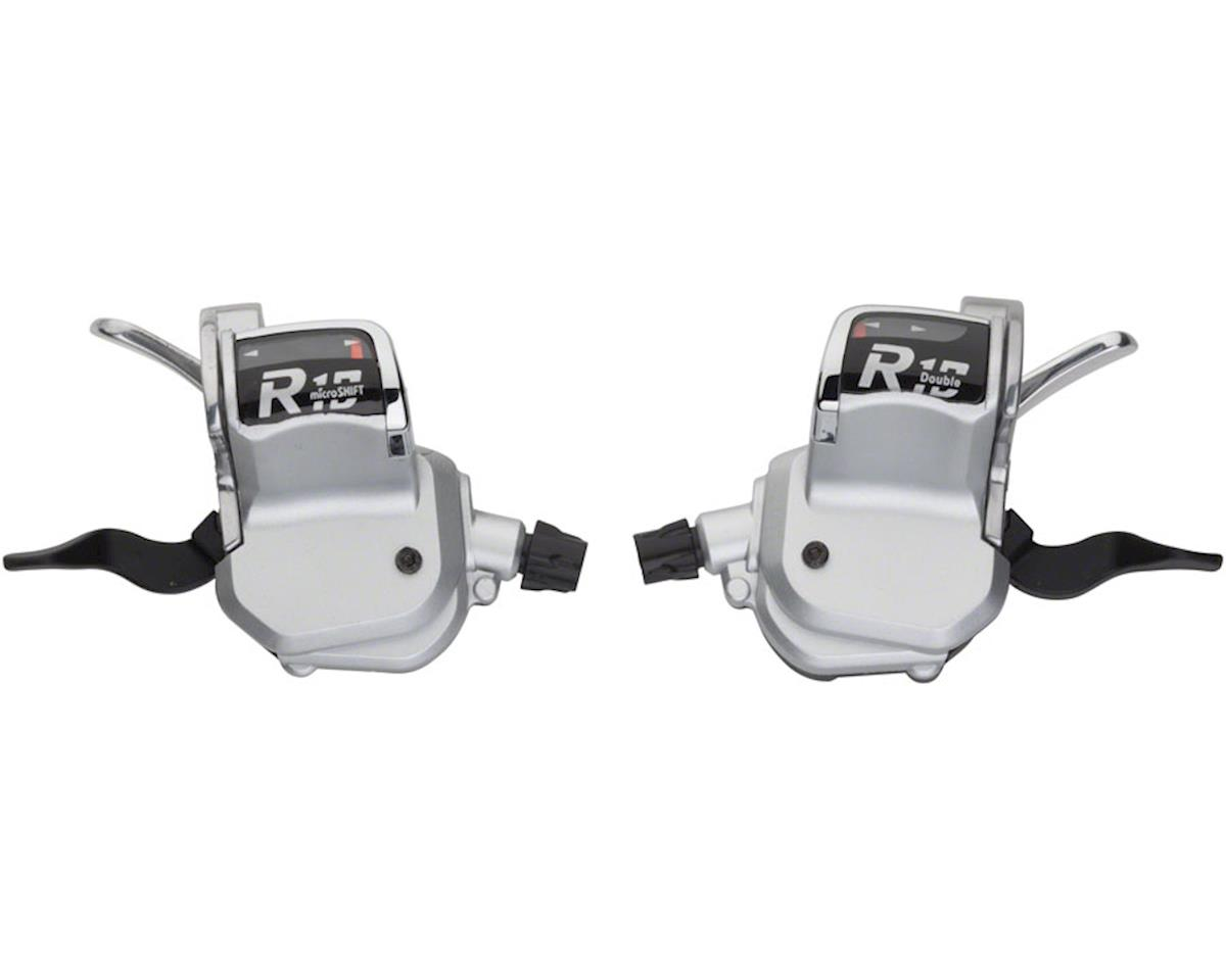 microSHIFT R10 2 x 10-Speed Road Flat Bar Shifters with Optical Gear Indicator,