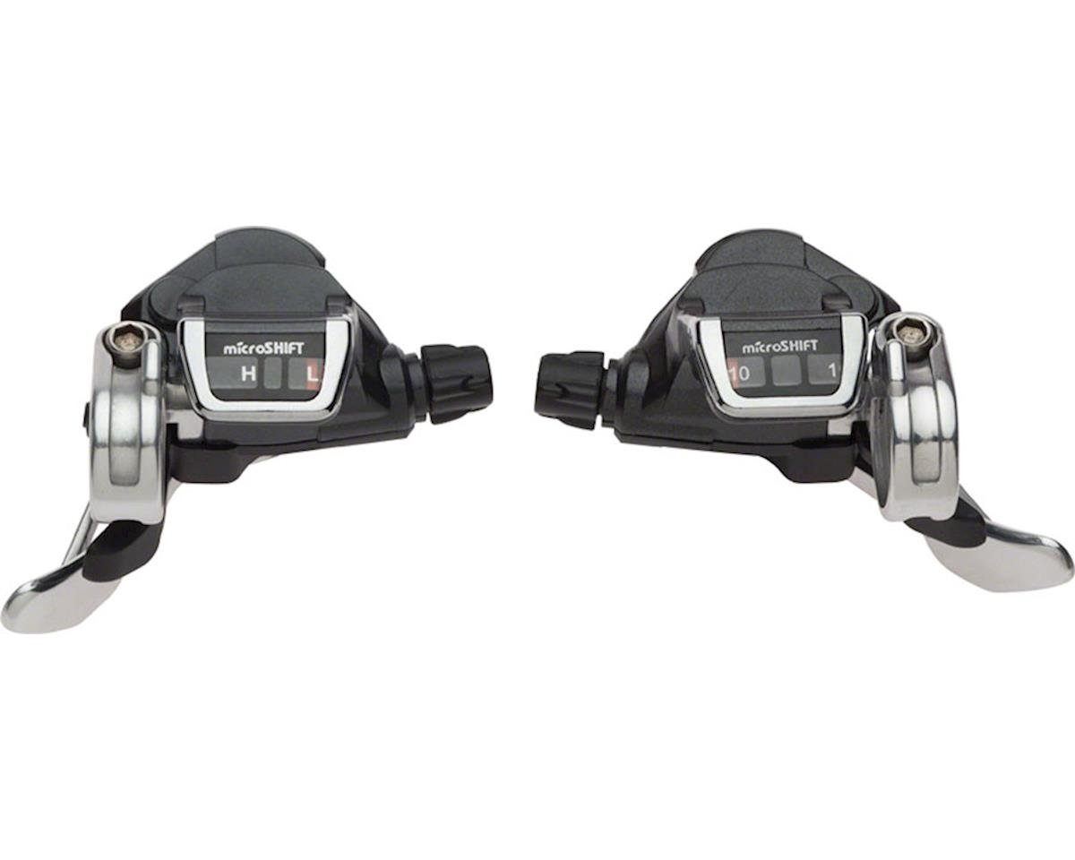 MicroShift Flat Bar Road Double Double/Triple 10-Speed Thumb Tap Shifter Set