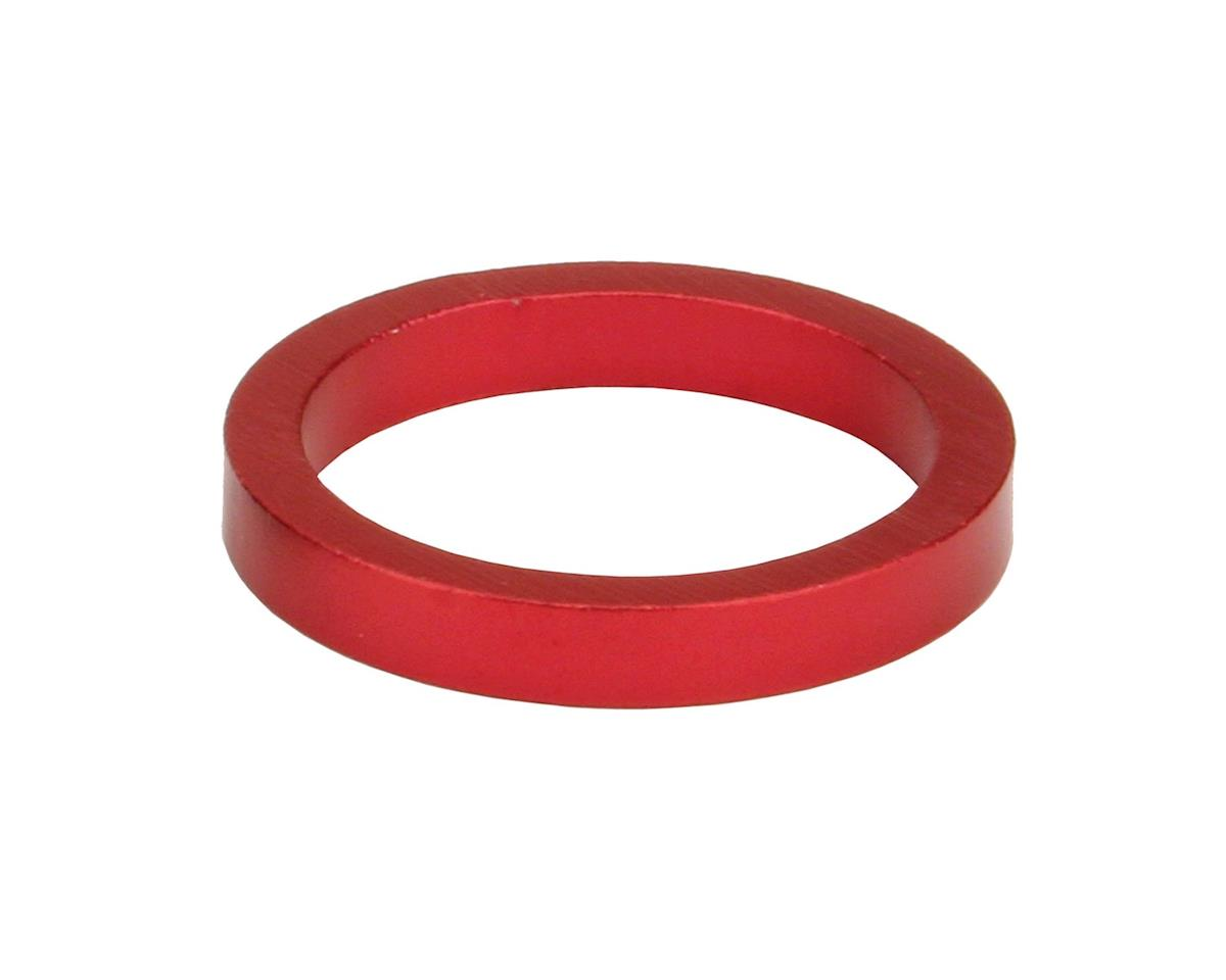 """Misc Headset Spacer (1-1/8"""" Aluminum) (Red) (7mm)"""