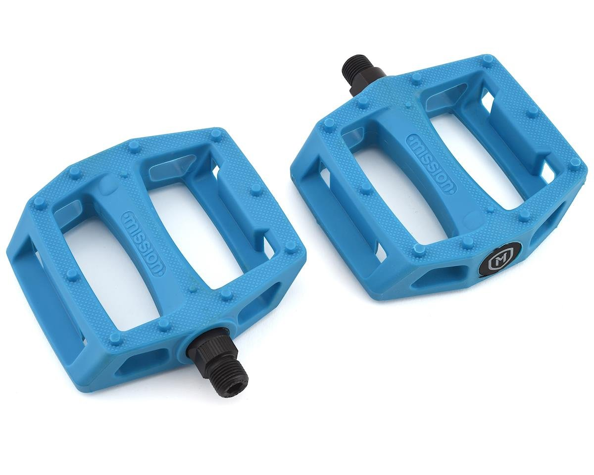 "Mission Impulse PC Pedals (Cyan) (9/16"")"
