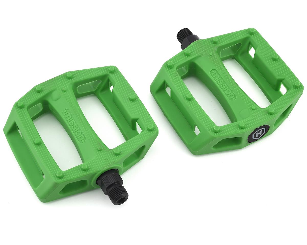 "Mission Impulse PC Pedals (Green) (9/16"")"
