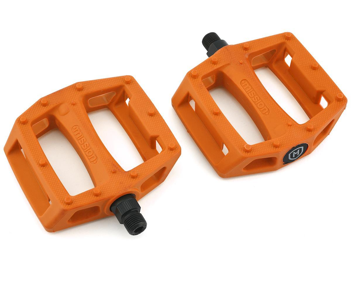 "Mission Impulse PC 9//16/"" Pedals Nylon BMX Bicycle Pedals Black /& Orange"
