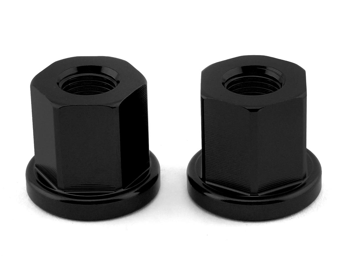 """Image 1 for Mission Alloy Axle Nuts (Black) (3/8"""" (10mm))"""