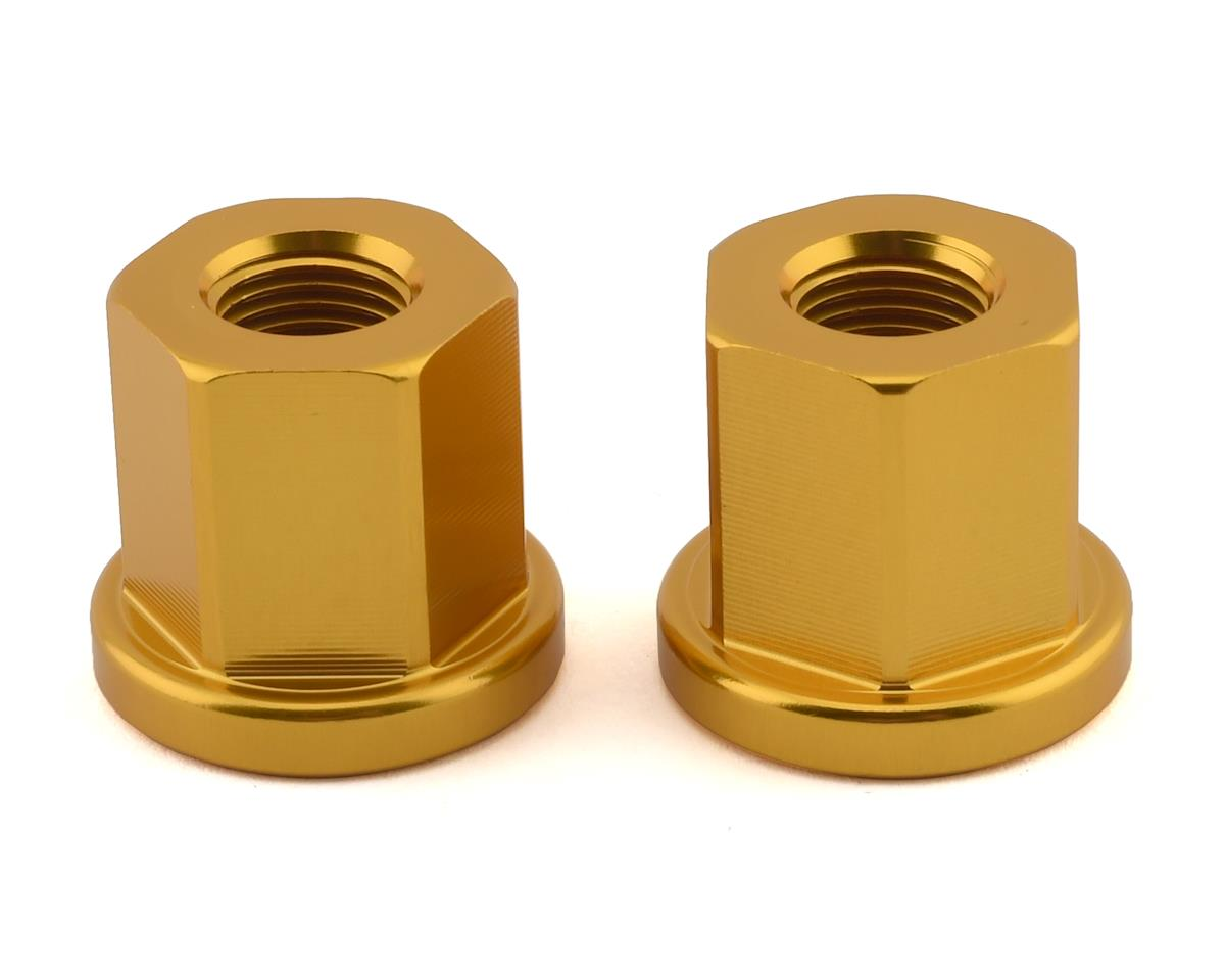 """Image 1 for Mission Alloy Axle Nuts (Gold) (3/8"""" (10mm))"""