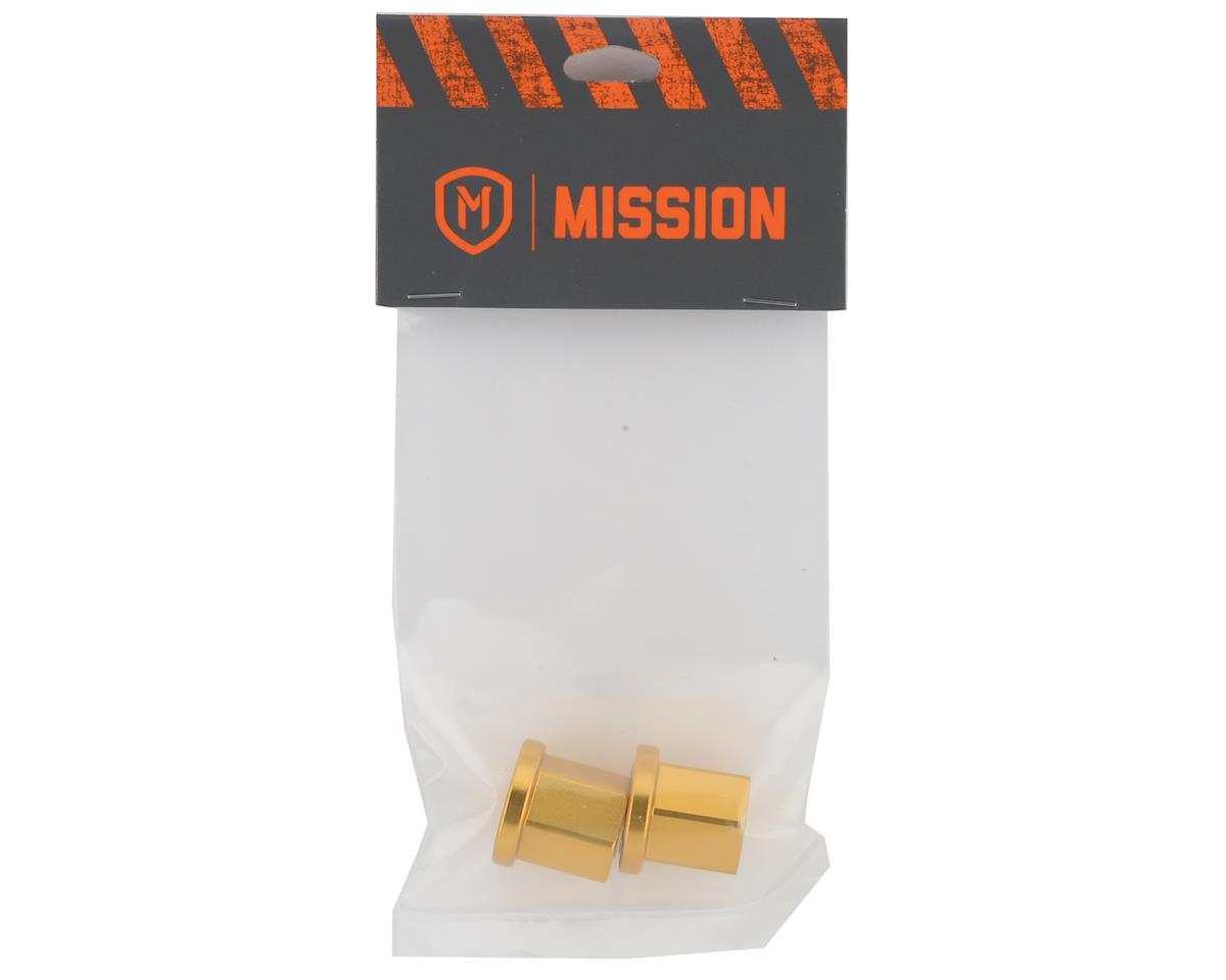 """Image 2 for Mission Alloy Axle Nuts (Gold) (3/8"""" (10mm))"""