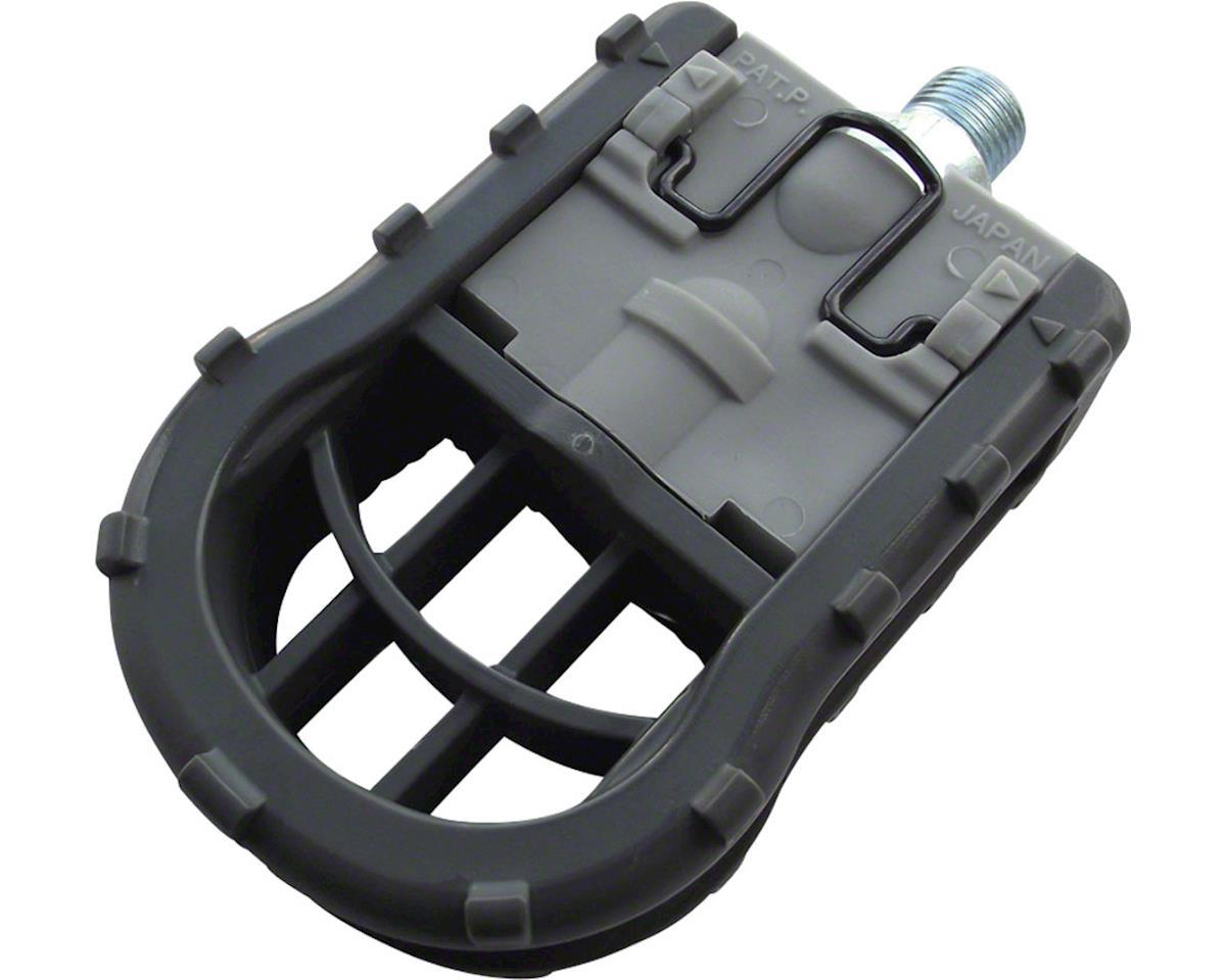 "MKS FD-5 Pedals - Folding , Plastic, 9/16"", Gray"
