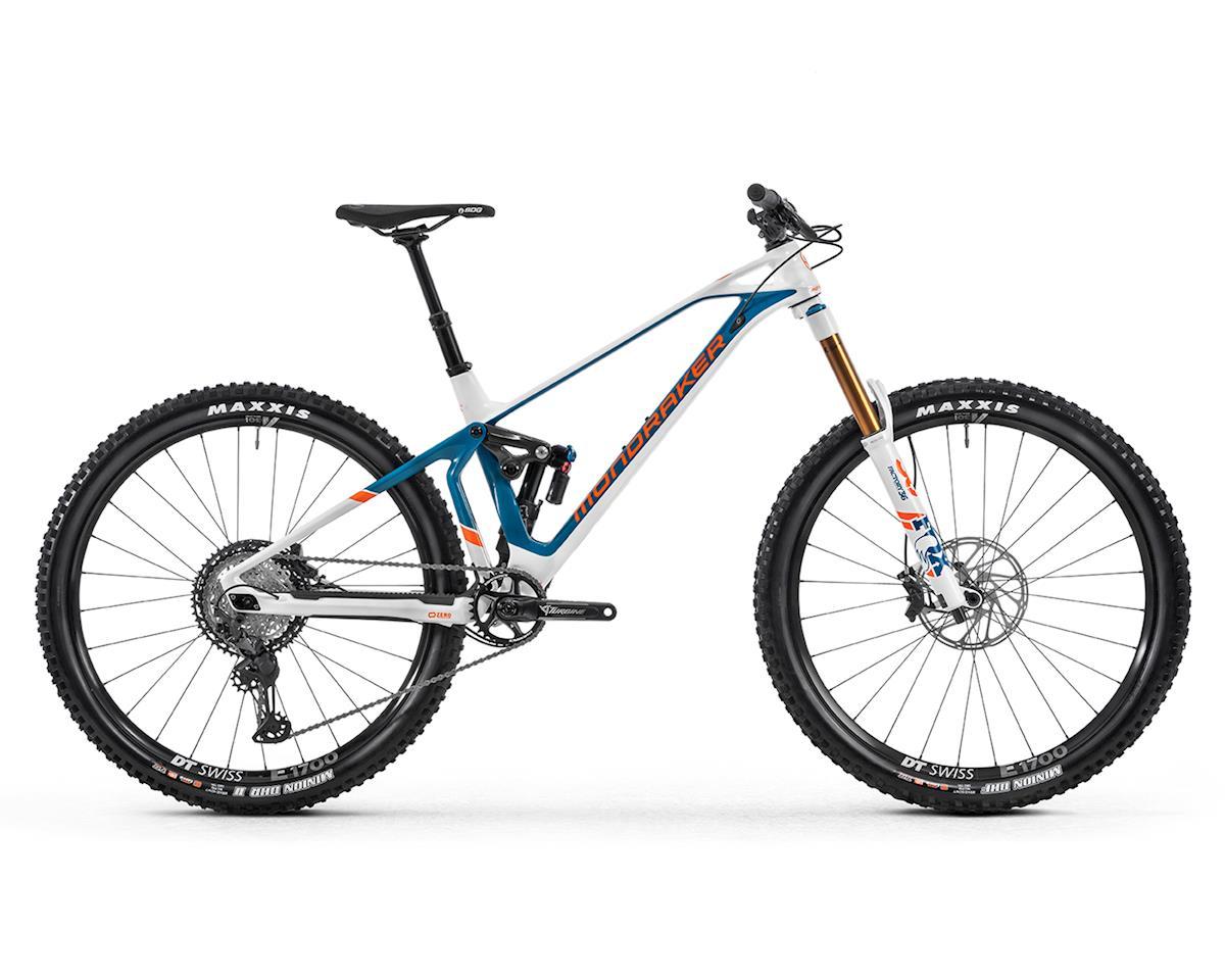 Image 1 for Mondraker SUPERFOXY CARBON R Super Enduro Bike (White/Petrol/Fox Orange) (M)