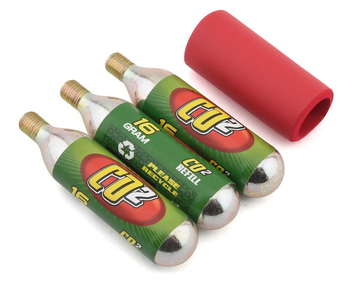 Mr Tuffy CO2 Cartridge Pack w/ Neoprene Sleeve (3) (16g)