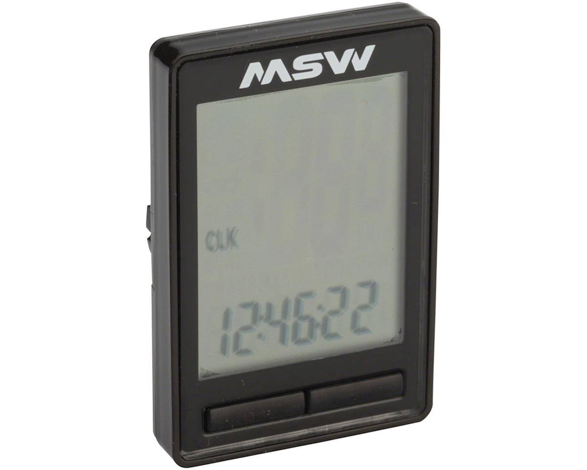 MSW CC-200 Miniac 10-Function Cycling Computer, Wireless, Black