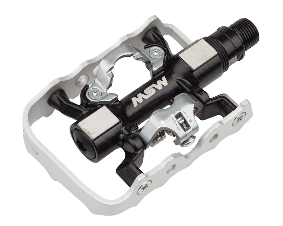 MSW CP-200 Platform/Clipless Pedal Sealed Bearings Black/Silver