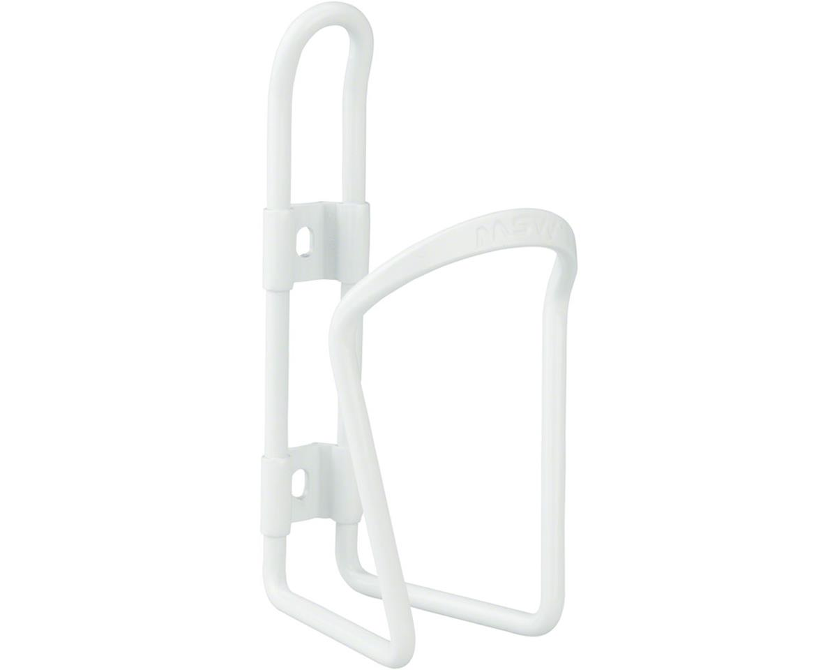 MSW AC-100 Alloy Water Bottle Cage 6mm rod White