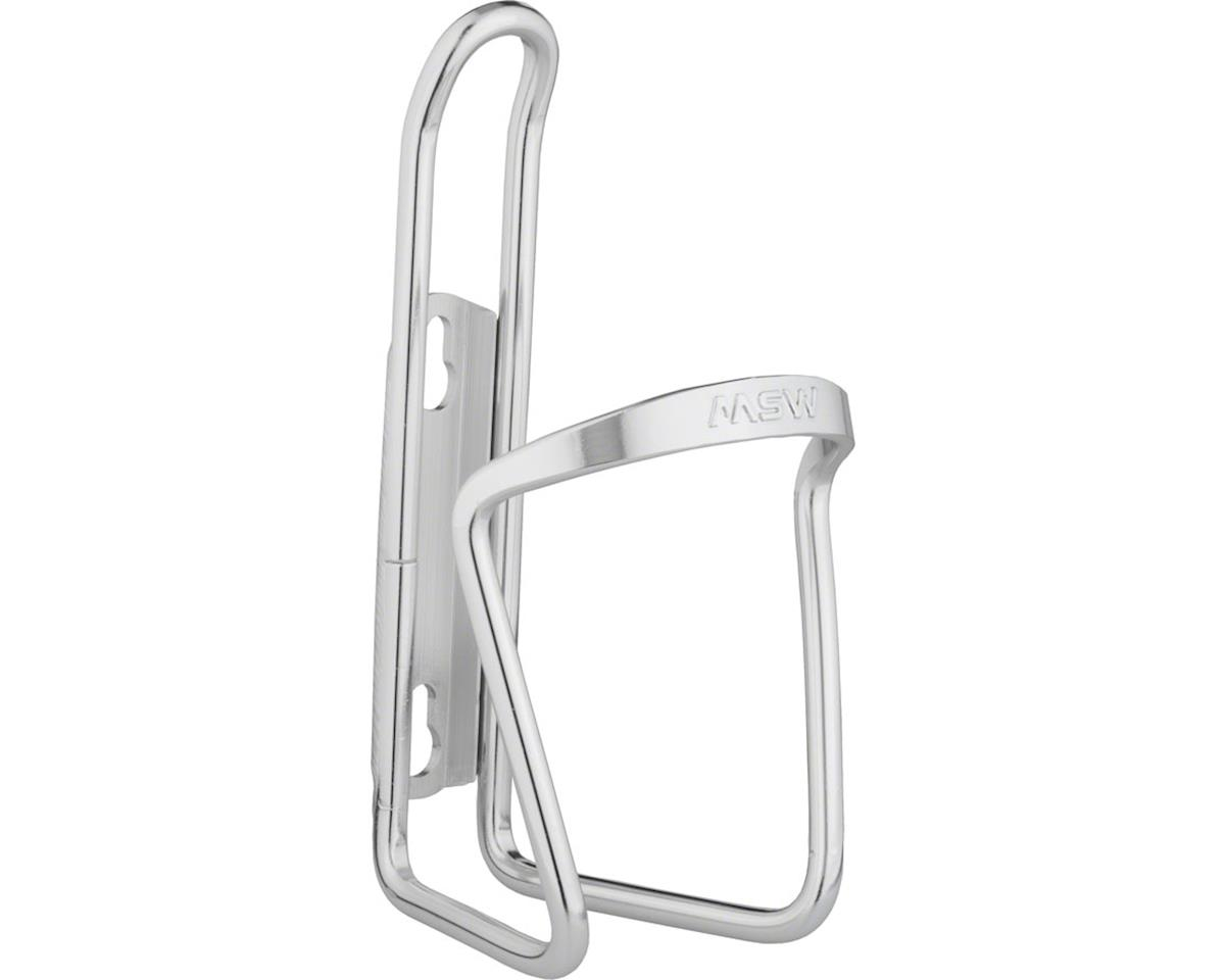 MSW AC-120 Easy Swap Bottle Cage Silver Anodized