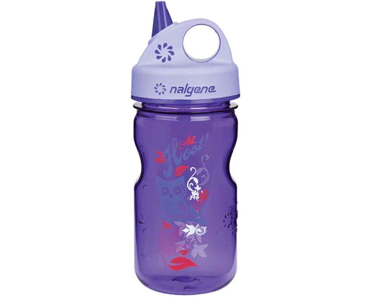 Nalgene Tritan Kid's Grip-n-Gulp Water Bottle (Purple Hoot) (12oz)