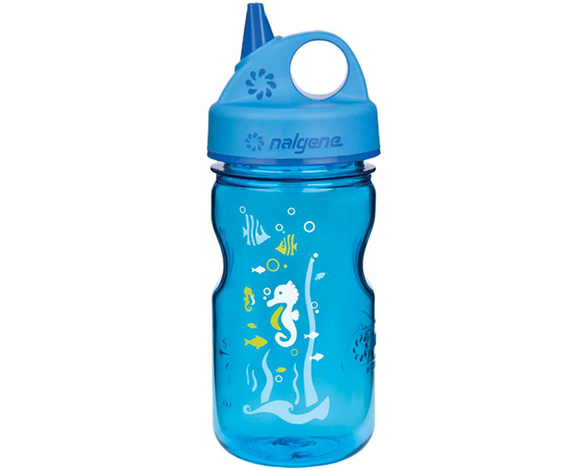 Nalgene Tritan Kid's Grip-n-Gulp Water Bottle (Blue Seahorse) (12oz)