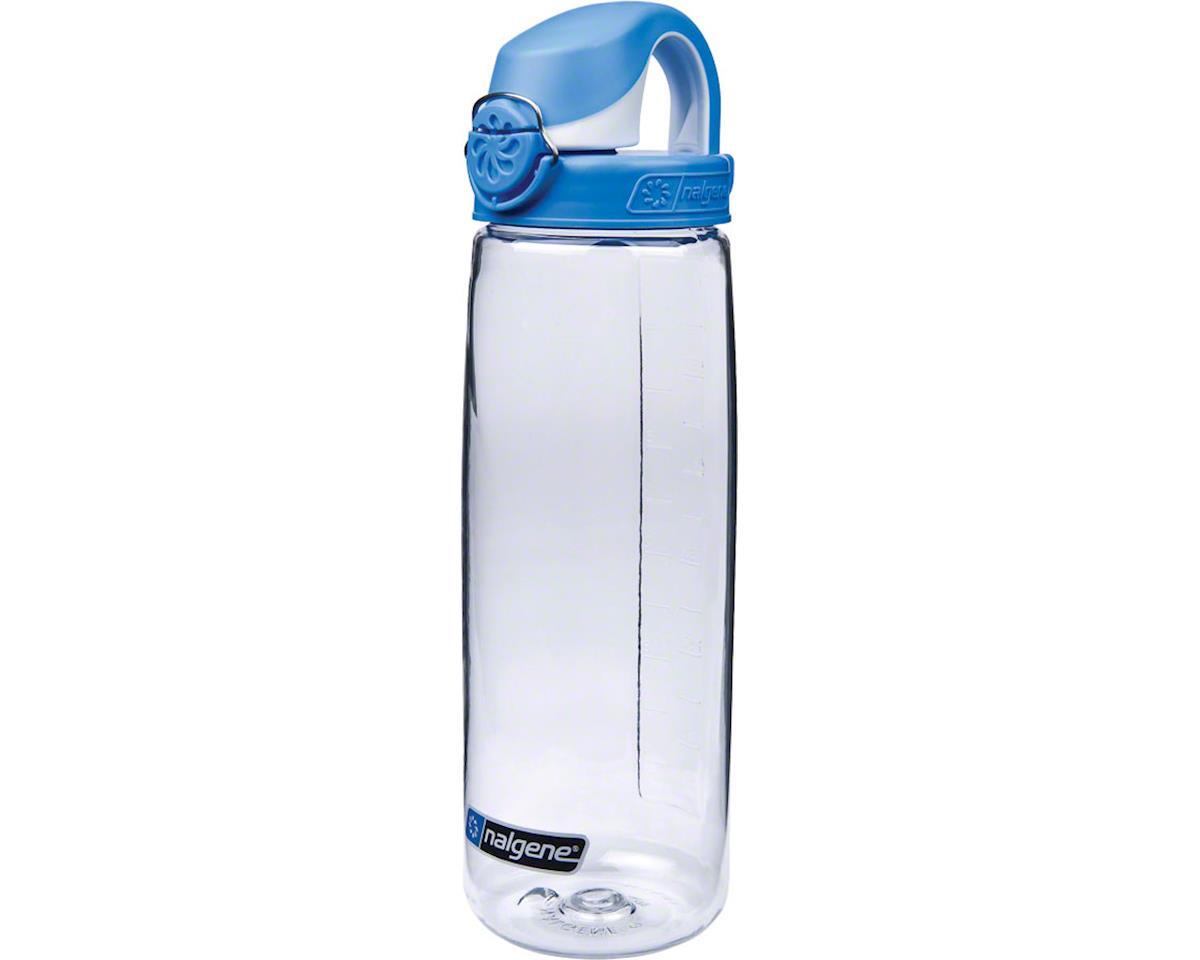 Nalgene Tritan OTF Water Bottle: 24oz, Clear with Blue Cap