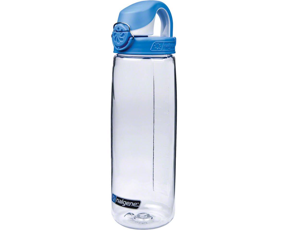 Nalgene Tritan OTF Water Bottle (Clear w/ Blue Cap) (24oz)