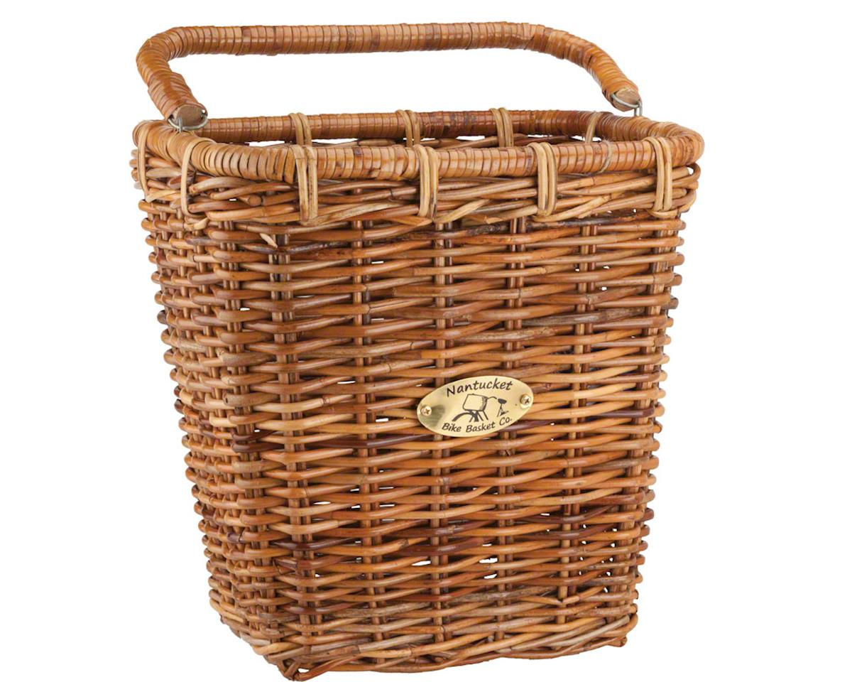 Image 1 for Nantucket Bike Basket Nantucket Cisco Pannier Basket (Honey) (Rectangular)