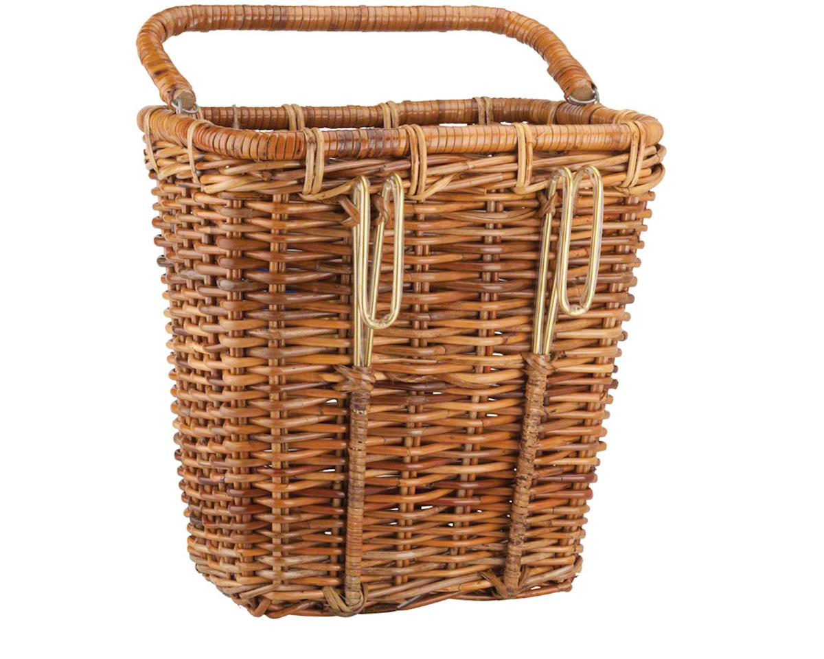 Image 2 for Nantucket Bike Basket Nantucket Cisco Pannier Basket (Honey) (Rectangular)