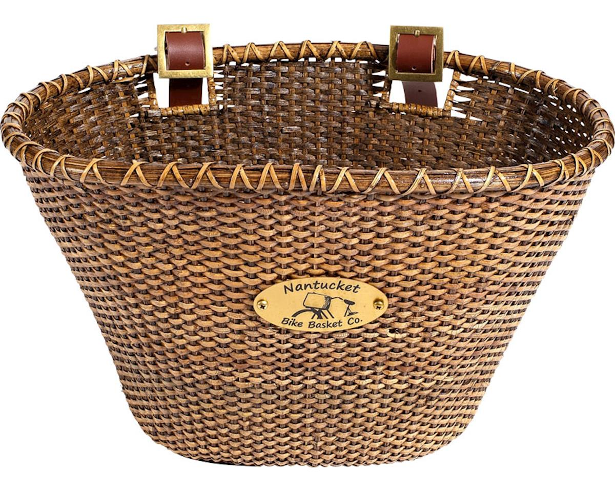 Nantucket Bike Basket Nantucket Lightship Front Basket (Oval Shape) (Stained)