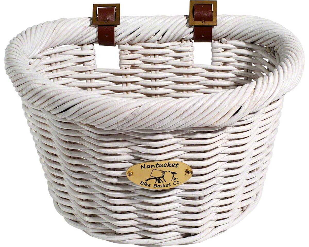 Nantucket Cruiser Front Basket, D-Shape White