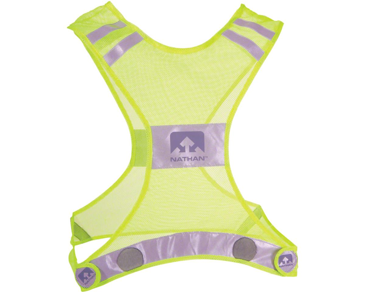 Reflective Streak Vest: LG/XL, Neon Yellow
